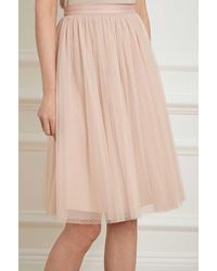 find workmanship latest design choose original Lyst - Needle & Thread Dotted Tulle Midi Skirt in Natural