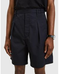 Lemaire - Elasticated Shorts In Blue Black for Men - Lyst
