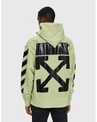 Off-White c/o Virgil Abloh - Natural Champion Hoodie In Beige for Men - Lyst