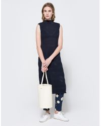 Ganni - Blue Hall Pleat Dress - Lyst