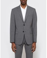 Theory | Gray Wellar Jacket In Charcoal for Men | Lyst