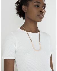 Maslo Jewelry - Metallic New Standard Small Necklace - Lyst