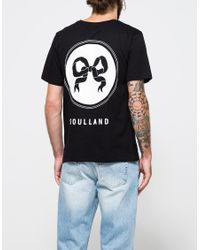 Soulland - Black Ribbon T-shirt for Men - Lyst