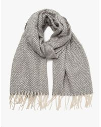 Need Supply Co. | Gray Enid Fringe Scarf | Lyst
