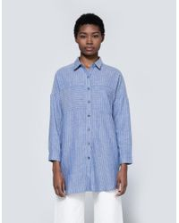 Farrow | Blue Elma Striped Button Down | Lyst