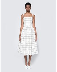 Rejina Pyo | White Issey Dress In Mix Check | Lyst