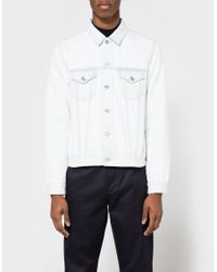 Acne Studios | White Who Bleached Jacket for Men | Lyst