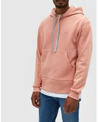 Acne | Ferris Face Hoodie In Pale Pink for Men | Lyst