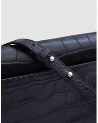 Little Liffner | D Saddle In Black Croc | Lyst