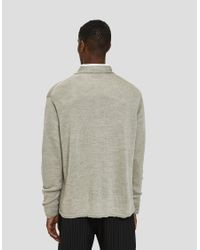 Margaret Howell - Hand Frame Boys Cardigan In Natural for Men - Lyst