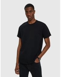 Reigning Champ - Terry Cut-off Ss Crew In Black for Men - Lyst