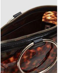 Kara - Multicolor Ring Crossbody Bag In Tortoise - Lyst