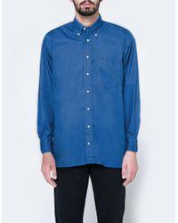 Gitman Brothers Vintage - Oversized Blue Poplin Shirt for Men - Lyst