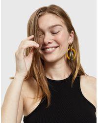 Lizzie Fortunato - Metallic Amber Modern Hoop Earrings - Lyst