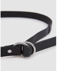 Caputo & Co. - O-ring Belt In Black - Lyst