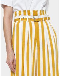 Maison Margiela - Yellow Striped Pleated Pant - Lyst