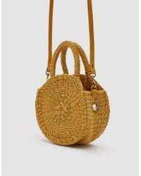 Clare V. - Yellow Woven Petit Alice Bag - Lyst