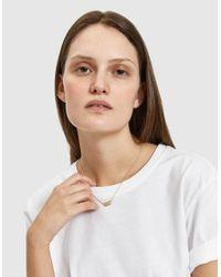 Loren Stewart - Metallic Choker Id Necklace In 14k - Lyst
