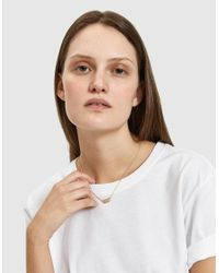 Loren Stewart - Metallic Choker Id Necklace In 14k - Lyst