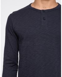 Theory - Blue Nebulous Henley In Eclipse for Men - Lyst