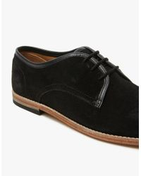 H by Hudson - Black Hayane Suede Derby Shoes for Men - Lyst