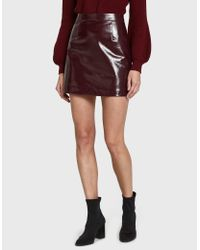 Stelen - Red Kirin Vinyl Mini Skirt - Lyst