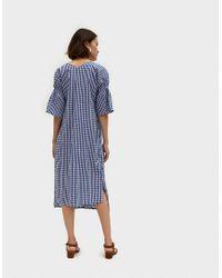Farrow - Blue Daytona Dress In Gingham - Lyst