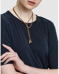 Pamela Love - Metallic Lasso Necklace In Brass - Lyst