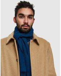Norse Projects - Blue Norse X Johnstons Lambswool Scarf for Men - Lyst