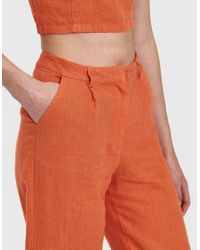 Paloma Wool - Orange Delphi Linen Pant - Lyst