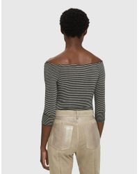 Which We Want - Black Julia Striped Bodysuit - Lyst