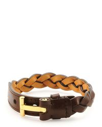 Tom Ford - Brown Nashville Men's Braided Leather Bracelet for Men - Lyst