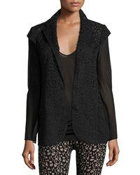 Akris - Black Laser-cut Knit-back Jacket - Lyst