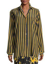 Michael Kors - Multicolor Pajama Stripe Shirt - Lyst
