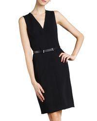 Akris | Black Sleeveless V-neck Dress | Lyst