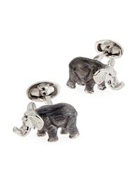 Jan Leslie - Metallic Elephant Cuff Links for Men - Lyst