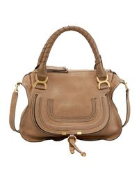 Chloé | Brown Marcie Medium Satchel Bag | Lyst