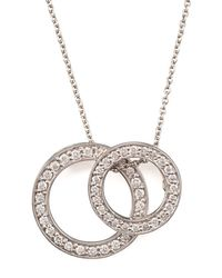 Roberto Coin - White Two-circle Pendant Necklace - Lyst
