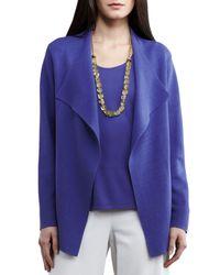 Eileen Fisher | Purple Open Interlock Jacket | Lyst