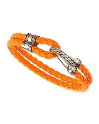 John Hardy | Orange Classic Chain Men's Hook-station Bracelet for Men | Lyst