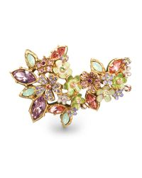 Jay Strongwater | Multicolor Floral Cluster Pin | Lyst
