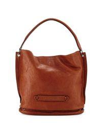 Longchamp - Brown 3d Leather Hobo Bag - Lyst