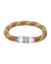 John Hardy | Men's Classic Chain Multicolor Cord Bracelet for Men | Lyst