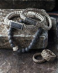 John Hardy - Metallic Men's Classic Chain Signet Ring - Lyst