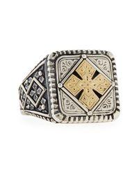 Konstantino | Metallic Men's Maltese Cross Square Ring for Men | Lyst