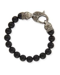 Stephen Webster | Black Matte Beaded Bracelet | Lyst