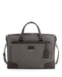 Tumi - Brown Regis Coated Slim Zip Briefcase for Men - Lyst