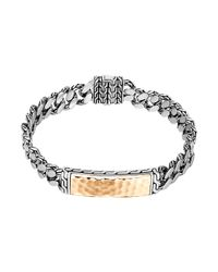 John Hardy | Metallic Gourmette Classic Chain Id Bronze Bracelet for Men | Lyst