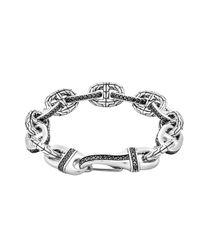 John Hardy | Metallic Black Sapphire Rode Link Bracelet for Men | Lyst