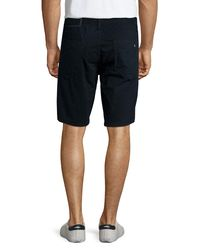 Rag & Bone | Blue Flat-front Cotton Shorts | Lyst